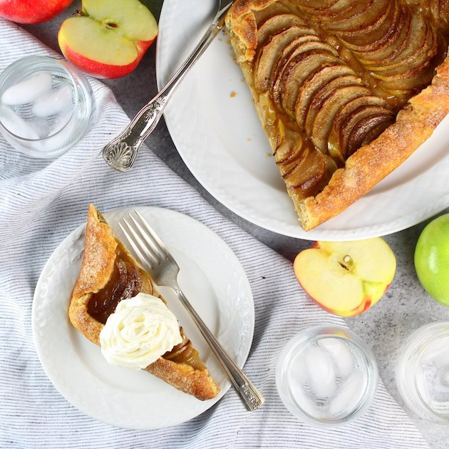 Salted-Butter Apple Galette - recipe and image