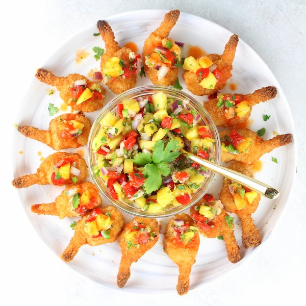 Firecracker Shrimp with Pineapple Relish