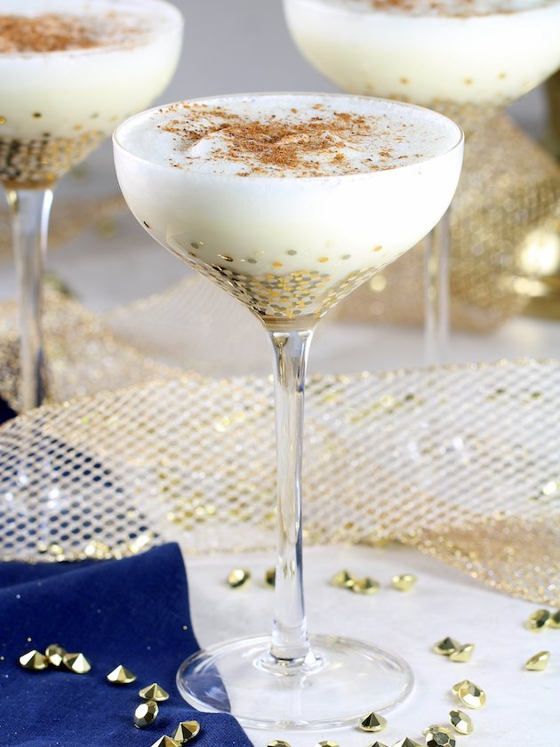 Nutty Holiday Eggnog Recipe Image EL 3 Glasses