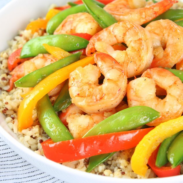Garlic Pepper Shrimp Stir Fry Recipe & Image - EL Bowl