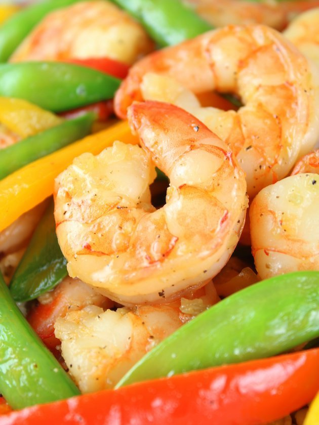 Garlic Pepper Shrimp Stir Fry Recipe & Image - EL Close