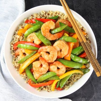 Garlic Pepper Shrimp Stir Fry