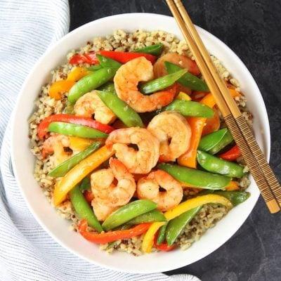 Garlic Pepper Shrimp Stir Fry