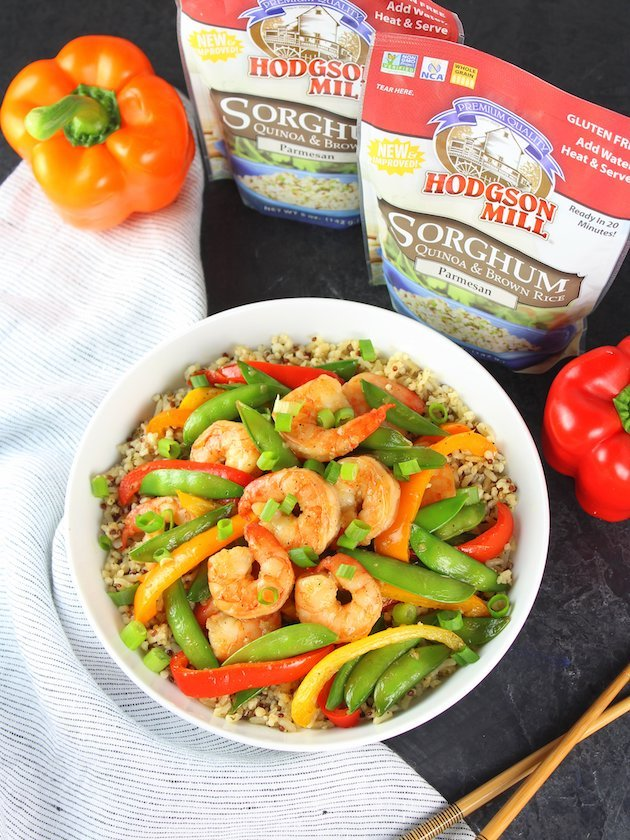 Garlic Pepper Shrimp Stir Fry Recipe & Image - Wide OT