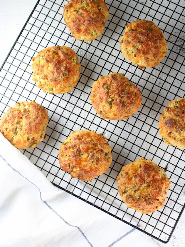 Savory Turkey Sausage Buttermilk Biscuit Recipe & Image - Partial Rack OT