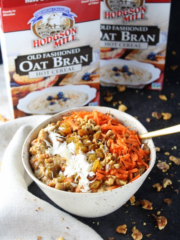 Healthy Carrot Cake Breakfast Bowl Recipe & Image Product and Bowl Eye Level