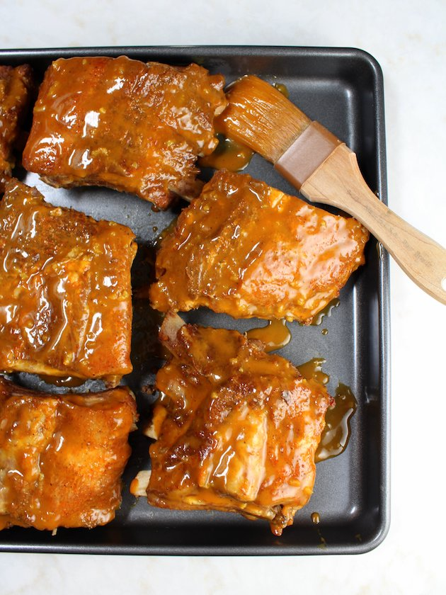 Instant Pot Baby Back Ribs Image and recipe - OT ribs with sauce