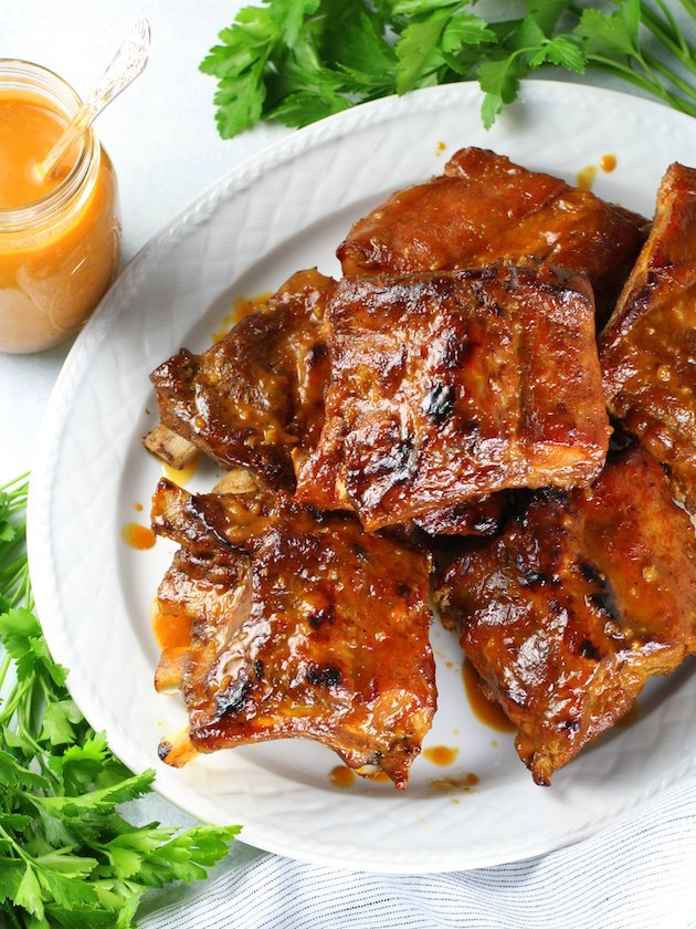 Instant Pot Baby Back Ribs Image and Recipe - OT ribs and sauce