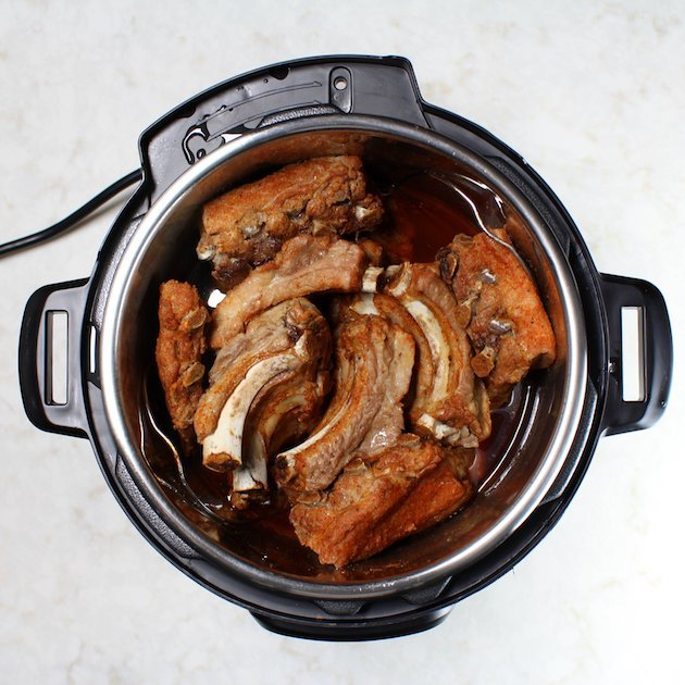 Instant Pot Baby Back Ribs Image and recipe - ribs in the Instant Pot cooked