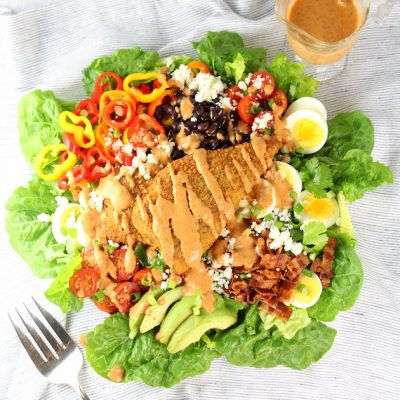 Southwestern Cobb Salad with Creamy Chipotle Dressing