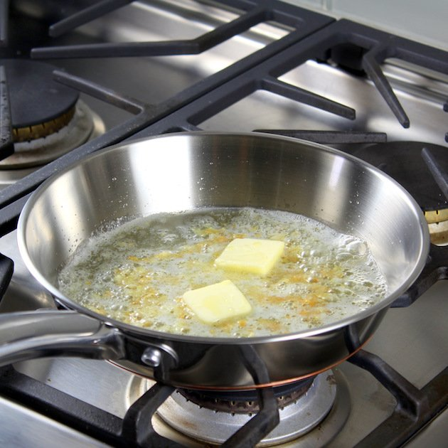 Sauteing butter for Sauce