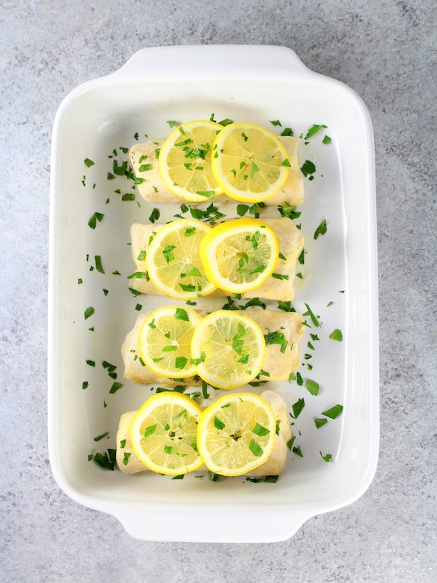 Cooked Haddock in Casserole Dish