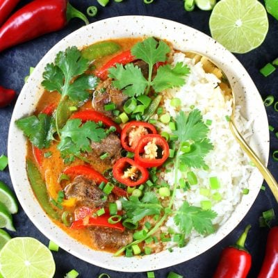 Instant Pot Beef Thai Red Curry
