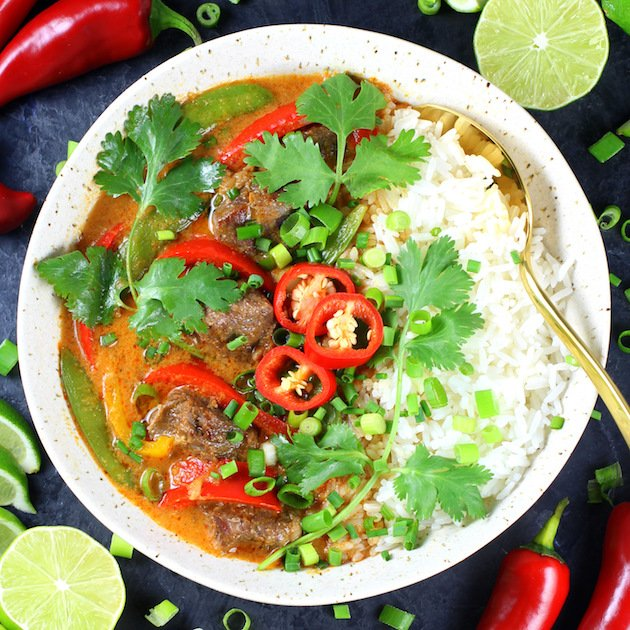 Instant Pot Beef Thai Red Curry Recipe