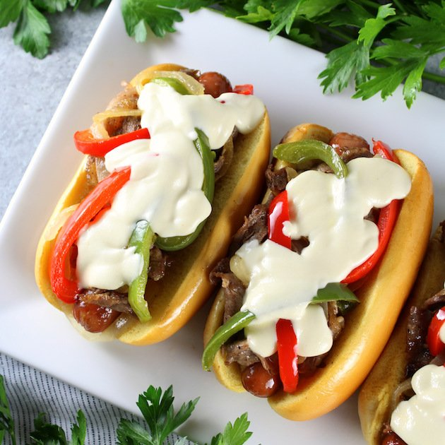 Philly Cheesesteak Dogs Recipe