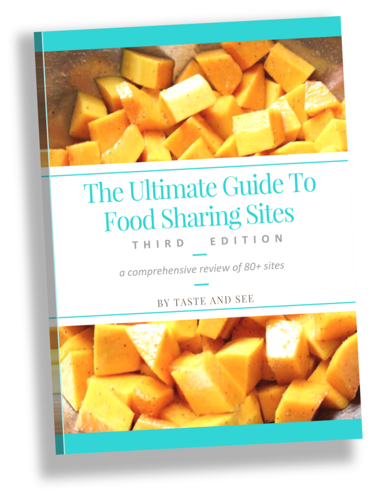 """Book Cover: """"The ultimate guide to food sharing sites"""""""