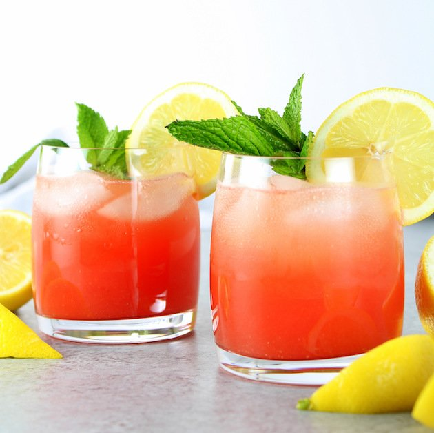 Watermelon Lemonade Prosecco Spritzer
