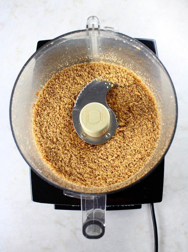 Chopped nuts in food processor