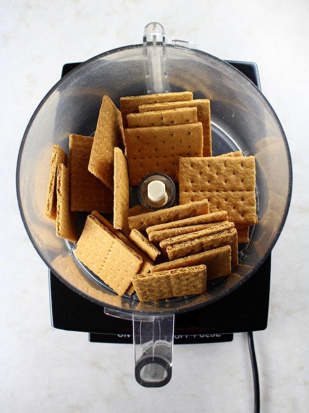 Whole graham crackers in food processor