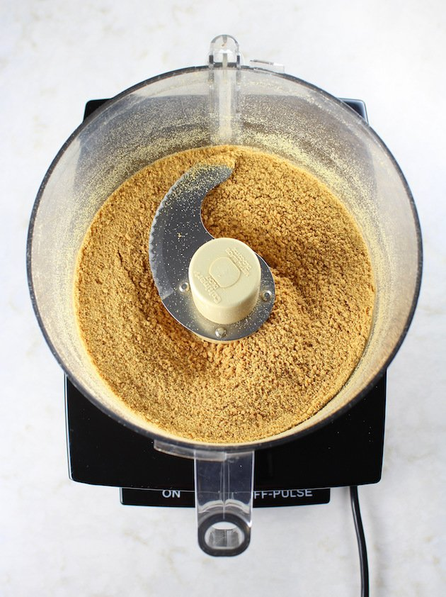 Ground graham crackers in food processor