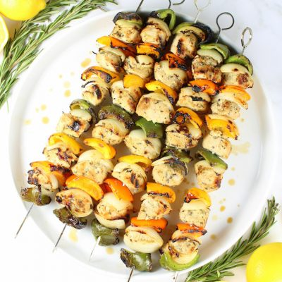 Grilled Rosemary Lemon Chicken Kabob Recipe