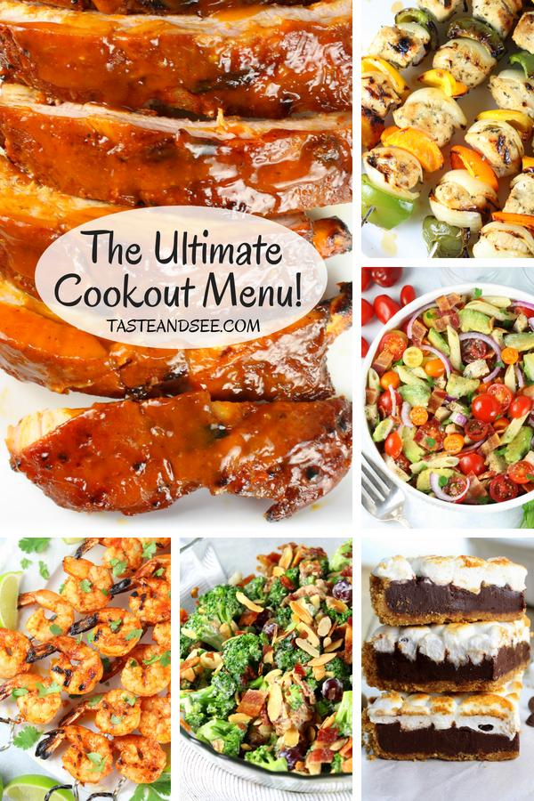 Your end-of-summer cooking just got kicked up a notch: Recipes for everything from appetizers to desserts, so you can plan out a menu with all our favorite recipes! #sidedishes #food #party #menu #appetizers #dessert #backyard #tasteandsee  || https://tasteandsee.com ||
