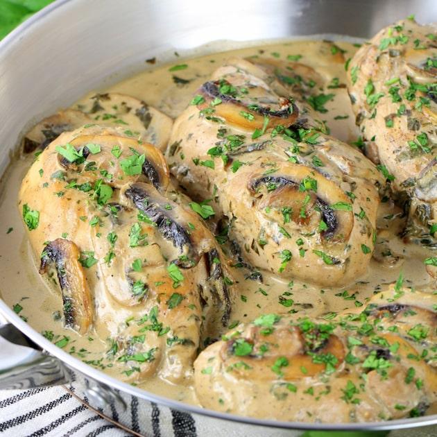 Chicken with Creamy Parmesan Mushroom Sauce