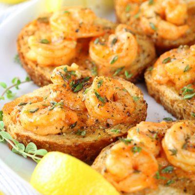 Easy Cajun Shrimp Toast Appetizers