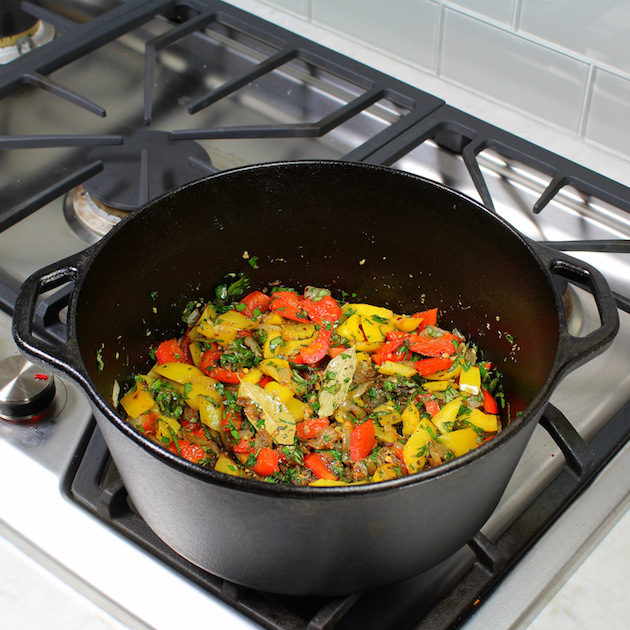 Soup pot on stove