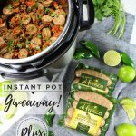 Instant pot with quinoa and sliced chicken sausage