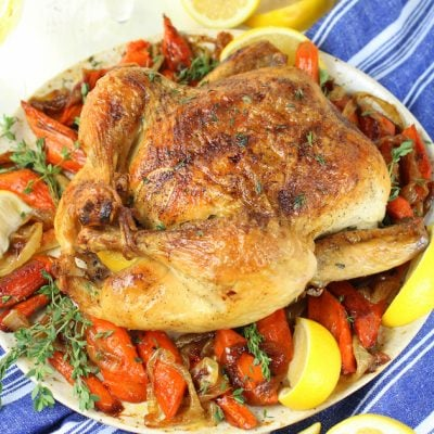 Lemon Thyme Oven Roasted Chicken