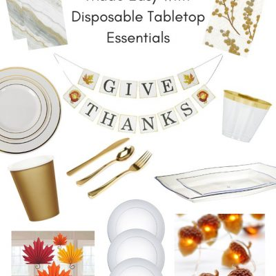 Thanksgiving Made Easy with Disposable Tabletop Essentials