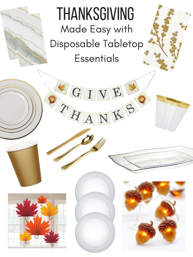Thanksgiving Made Easy With Disposable Tabletop Essentials - Images