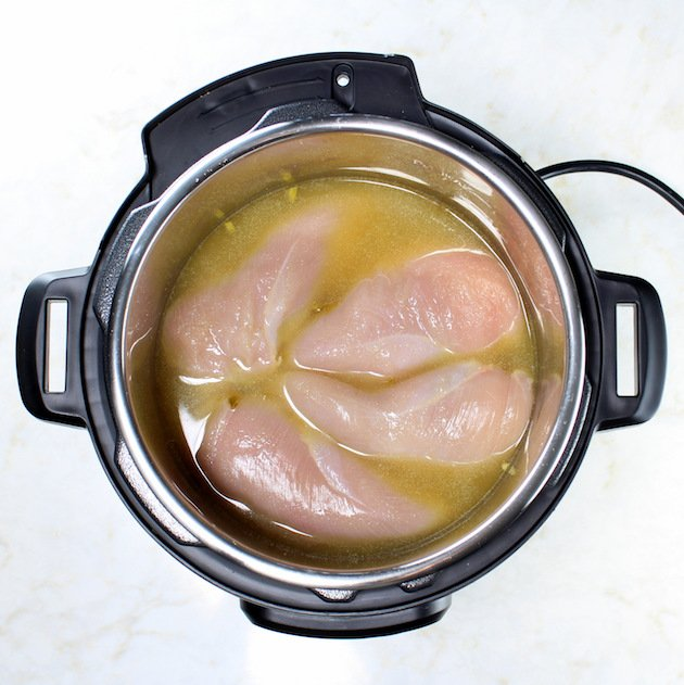 Instant Pot with Chicken and Broth