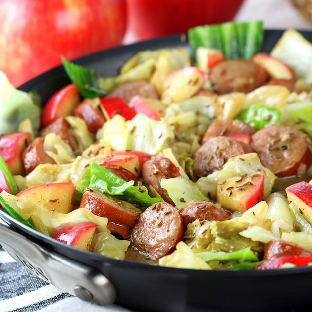 One-Pan Kielbasa And Fried Cabbage