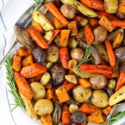 Roasted Fall Vegetables with Rosemary