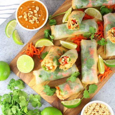 Shrimp Pad Thai Spring Rolls