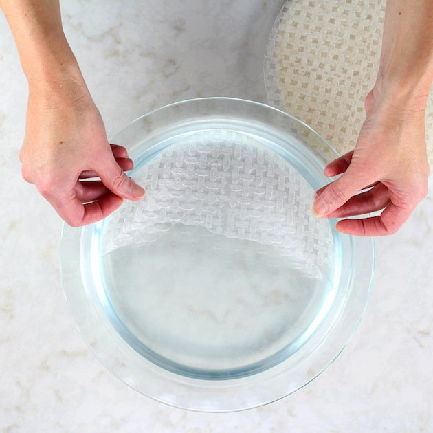 Rice Paper Wrapper in water