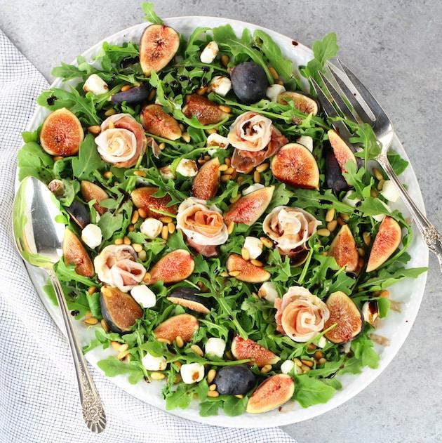 Fig Salad with Prosciutto and Mozzarella