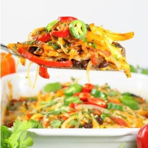 spatula of mexican casserole