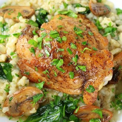 Instant Pot Chicken Thighs With Risotto