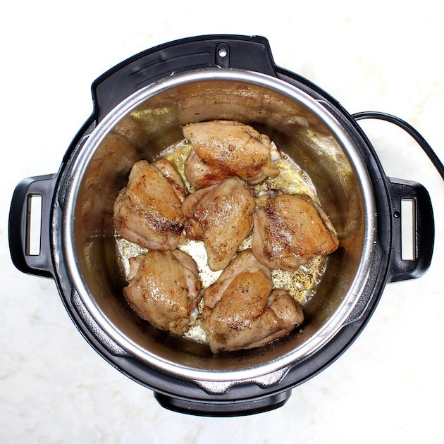 Instant Pot Chicken Thighs With Risotto - Picture & Image - How to sear chicken thighs in an instant pot