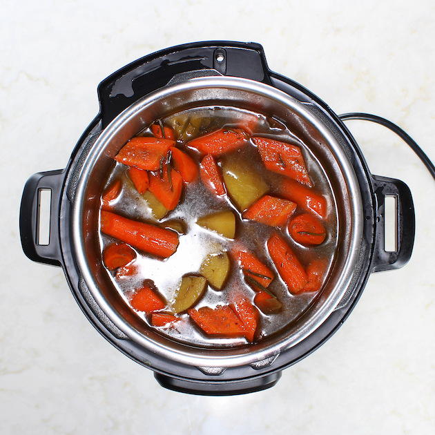 Cooking potatoes for roast in an instant pot