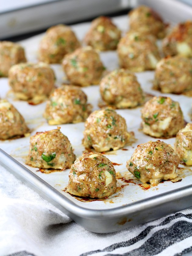 How to Bake Healthy Meal Prep Baked Turkey Meatballs