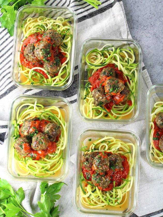 Healthy Meal Prep Baked Turkey Meatballs Recipe & Image: How to do meal prep