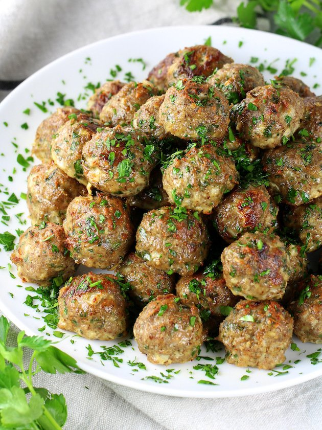 Healthy Meal Prep Baked Turkey Meatballs