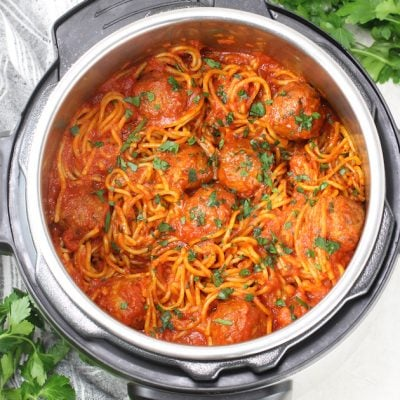 Instant Pot Spaghetti and Turkey Meatballs
