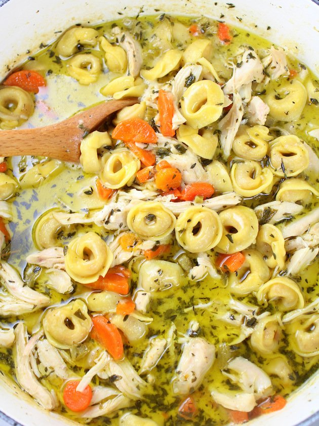 How to make Creamy Tortellini Soup with Chicken