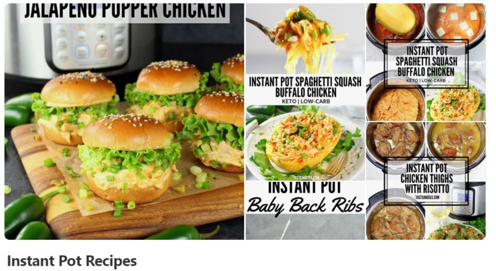 Pinterest Instant Pot Recipe Board Cover Image