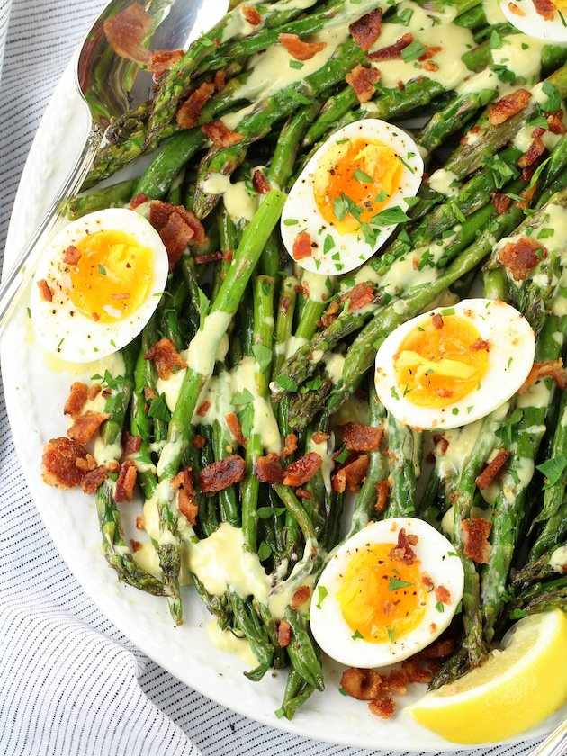 How to make Asparagus Egg Salad with Dijon Vinaigrette Image